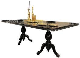 casa padrino luxus barock esstisch schwarz antik gold 225 x 115 x h 80 cm edler esszimmertisch hochwertige esszimmer möbel im barockstil