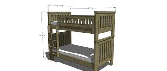 Free Plans For Bunk Bed With Stairs by Free Woodworking Plans To Build An Rh Inspired Kenwood Twin Over