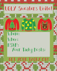 Party Invitations Captivating Ugly Sweater Christmas Design To Make Free Printable