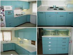 Brilliant Aqua GE Metal Kitchen Cabinets For Sale On The Forum Michigan Of Vintage