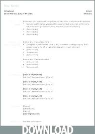 Microsoft Word Resume Format Curriculum Vitae Download In Ms Office Template