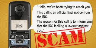 IRS Lawsuit Phone Scam – It Happened To Us