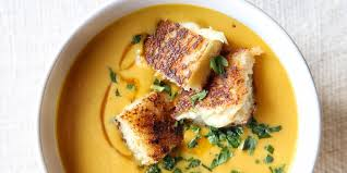 Pumpkin Bisque Recipe Vegan by Best Creamy Pumpkin Soup With Grilled Cheese Croutons Recipe How
