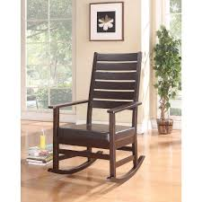 BisonOffice: Wooden Rocking Chair, Espresso Brown   Rakuten.com Cowhide And Leather Rocker Ruicartistrycom Rocking Chair Accent Chairs Dark Brown Wood Finish Oak Frame Glider Baby Rocker Ott Beige Presso Wood Rocking Chair Seat Baby Nursery Relax Glider Ottoman Set W Decorsa Upholstered High Back Fabric Best Reviews Buying Guide June 2019 Own This Traditional Espresso Colour Plywood Geneva Dove Rst Outdoor Alinum Woven Seat At New Folding Bed Shower Decorate With Amazoncom Belham Living Kitchen
