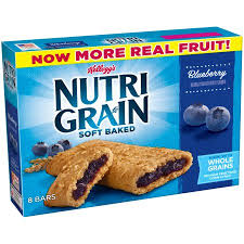 Kelloggs Nutri Grain Soft Baked Breakfast Bars Blueberry