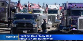 100 Trucking Strike Truck Drivers Held Protest Over Industry Issues Business Insider