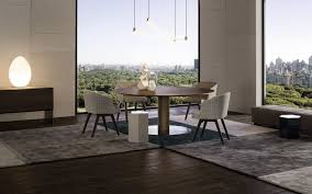 100 Minotti Dining Table Contemporary Dining Table Wooden Metal Rectangular BELLAGIO