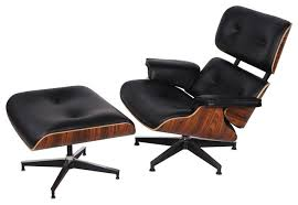 Hampton Modern Eaze Lounge Chair and Ottoman View in Your Room