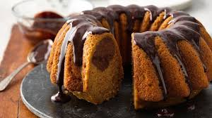 Pumpkin Spice Bundt Cake Using Cake Mix by One Bowl Pumpkin Chocolate Swirl Cake With Chocolate Ganache