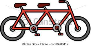 Cute Two Seat Tandem Bicycle Icon