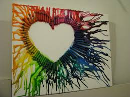 Try To Do This Very Fun Art Project With Crayons Put The In Specific Order That You Want Then Glue Them Down Use A Hair Dryer Melt