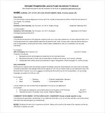 One Page Cv Sample On Basic Resume Template 1
