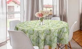 abakuhaus tischdecke kreis tischdecke abdeckung für esszimmer küche dekoration blätter pflanzen abstrakte motive kaufen otto