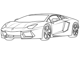Click To See Printable Version Of Lamborghini Aventador Supercar Coloring Page