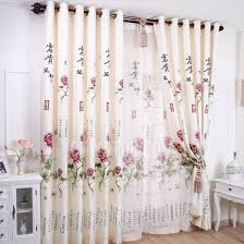 Country Style Living Room Curtains by Floral Pattern Polyester Country Style Living Room Curtains