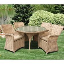 El Dorado Outdoor 5pc Dining Set With 4 Arm Chairs And 48