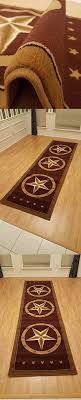 Rugs Area Southwestern Design Star Rustic Cowboy Decor Brown 211