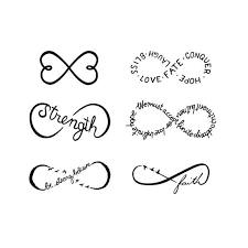 Infinity Symbols Set Temporary Tattoo Of 6 By Tattify