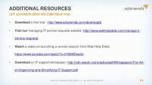 Solarwinds Help Desk Free by Solarwinds Federal Tools Webinar Using Integrated Tools To Improve U2026