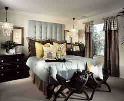 Opulent Master Bedroom Decorating Ideas With Black Furniture And Big Pillows Two Chairs In