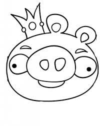 Angry Birds Pigs Coloring Pages Getcoloringpages With Printable