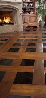 inlay black tile and wood floors modren home black