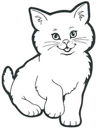 House Colouring Pages Cat