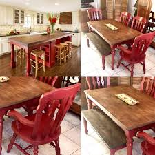 100 Dining Chairs Painted Wood Farm Table Farmhouse Red Rustic Etsy