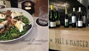 pret cuisine pret serves wine and evening meals