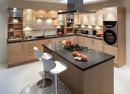 Interesting Small Kitchen Island Black Granite Countertops Also Stools As Well Hardwood Cabinetry Set In Modern Decorating Designs