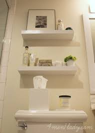 Bathroom Wall Cabinet With Towel Bar by Best 25 Floating Shelves Bathroom Ideas On Pinterest Above The
