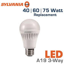 led 3 way bulb 40 60 75 watt equal sylvania led13a19 3way 75164