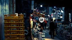 Urban People Asians Sidewalk Wallpaper