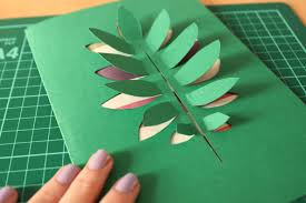 DIY Paper Cut Leaf Card