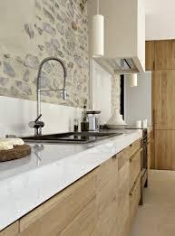 cuisine blanche et deco cuisine blanc bois la en photos tristao cuisine blanche et bois