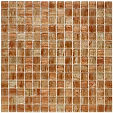 Home Depot Merola Penny Tile by Merola Tile Coppa Tan Gold 12 In X 12 In X 4 Mm Glass Mosaic