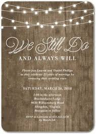Vow Renewal Invitation Wood Marriage Festoon