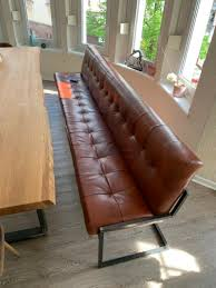 leather bench dining table set up a cozy seating area in