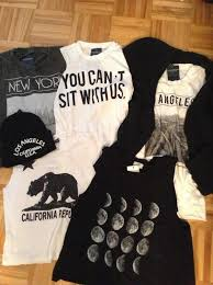 T Shirt Moon Black Brandy Melville California You Cant Sit With Us Los
