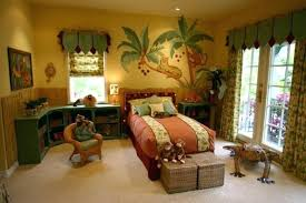 Ideas For Kids Room Decor Beautiful Jungle Inspired Bedroom Wall Decoration Childrens