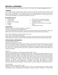 Care Provider Resume Child Samples Example In Home Daycare