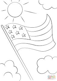 Click The Cartoon USA Flag Coloring Pages