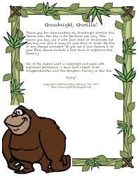 Goodnight Gorilla Printables