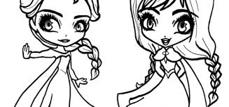 Great Frozen Coloring Page Anna And Elsa