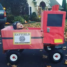 DIY Firetruck Halloween Costume. Used A Radio Flyer Wagon, 2 Uhaul ...
