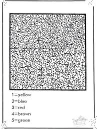 Hard Coloring Pages Difficult Color By Number Crafts Of Animals