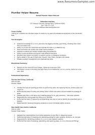 Resume Helper Doc Plumbing Jobs