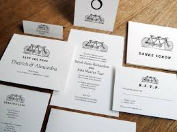 Printable Wedding Invitation Kit Tandem Bicycle Black