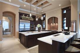 contemporary kitchen with u shaped crown molding in delray