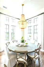 Round Country Dining Table Farmhouse Kitchen